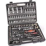 Maletín de herramientas 94 piezas / maletín de trinquete 1/2 – 1/4 cromo vanadio 94 piezas