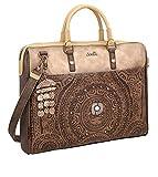 Bolsa portadocumentos marrón Anekke Paseo Tiempo Libre + Llavero Girabrilla