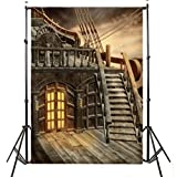 DODOING 5x7ft Retro Pirate Ship Photography Backdrop Studio Prop Photo Background 1.52.1m