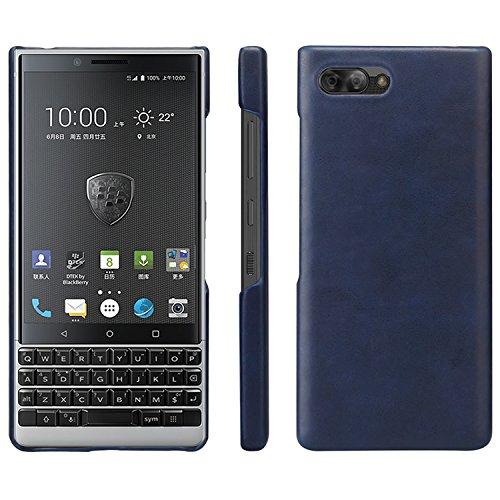 HualuBro BlackBerry KEY2 Hülle, Ultra Slim Premium Leichtes PU Leder Leather HandyHülle Tasche Schutzhülle Hülle Cover für BlackBerry Key 2 Smartphone (Blau)