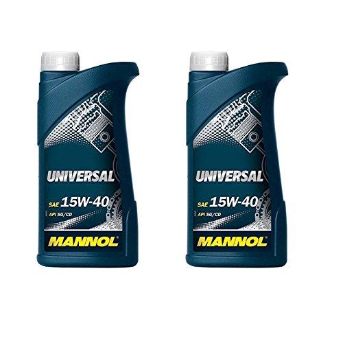 Mannol Universal 15W-40 - Aceite de motor para motor (2 x 1 L)