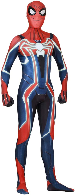 QQWE PS4 Speeding Spideruomo Fancy Dress Costume Adulto Bambini Spider-uomo Cosplay Abgreeliamento Film Costume Prop,A-L