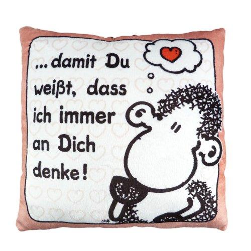 Sheepworld 42389 Plüschkissen Denke