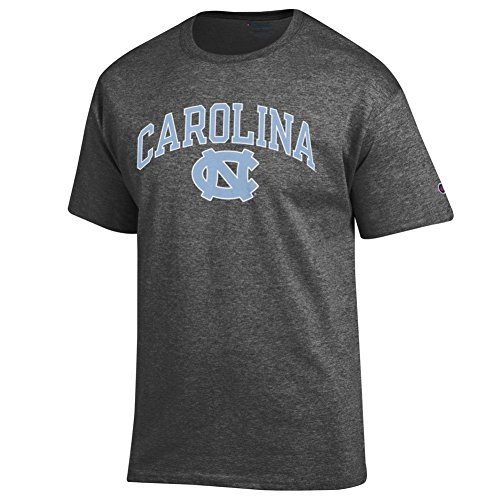 Elite Fan Shop North Carolina Tar Heels Tshirt Varsity Charcoal - Large
