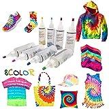 Kit de teñido permanente para teñir camisetas, para teñir telas, pinturas, textiles, para mujeres, hombres, niños, familiares, amigos, bricolaje, suministros de fiesta
