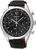[セイコー]Seiko 腕時計 Chronograph Black Dial Stainless Steel Black SSB097P1 メンズ [逆輸入]