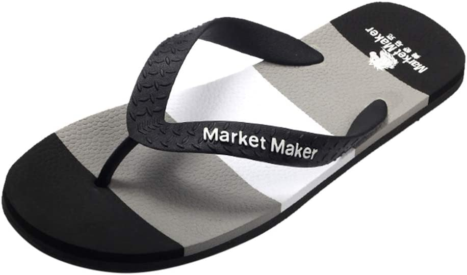 Men's Flip-Flop Sandals Comfortable Soft Summer Slippers Thong Sandals Suitable for Bedroom Living Room Gym Bathroom Poolparty Beach Walking Boating Trips