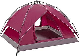 IDWOI-tält tält utomhus automatisk 3-4 personer dubbelt konto skugga vindtät vattentät camping utrustning fält