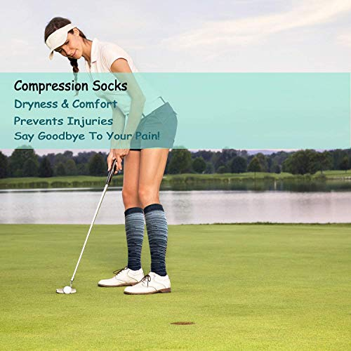 ACTINPUT Compression socks for men and women, 20-30 mmHg is best for running, athletics, medicine, pregnancy and travel - - L /XL