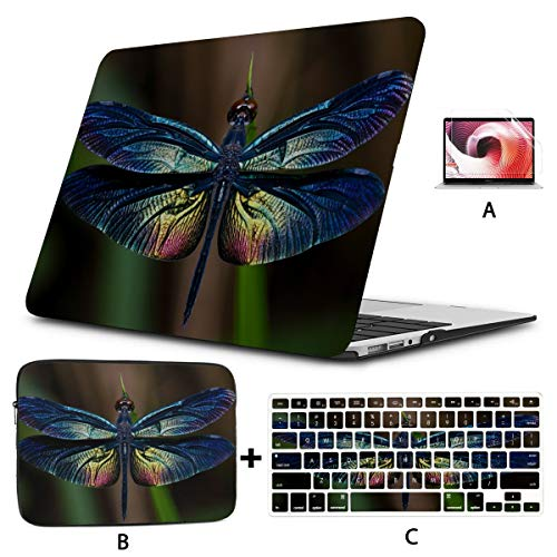 Laptop Hard Case Cute And Petite Elf Dragonfly A1466 Macbook Air Case Hard Shell Mac Air 11'/13' Pro 13'/15'/16' With Notebook Sleeve Bag For Macbook 2008-2020 Version