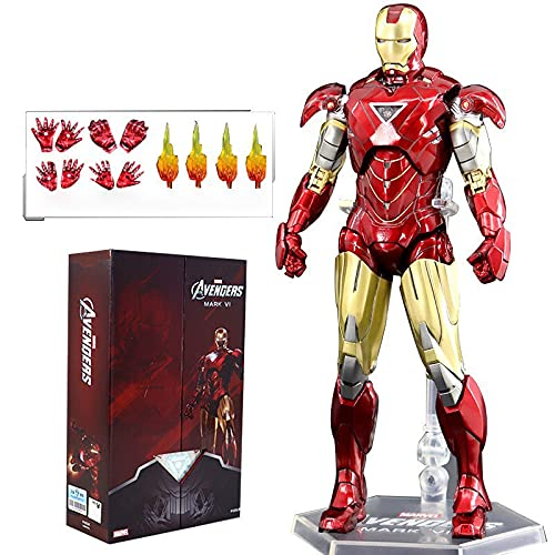 ZT 10th Anniversary 7 Inches Deluxe Collector Iron Man MK6 Action Figures