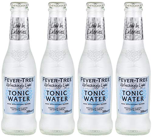 Fever Tree Naturally Light Indian Tonic Water 4 X 200ML