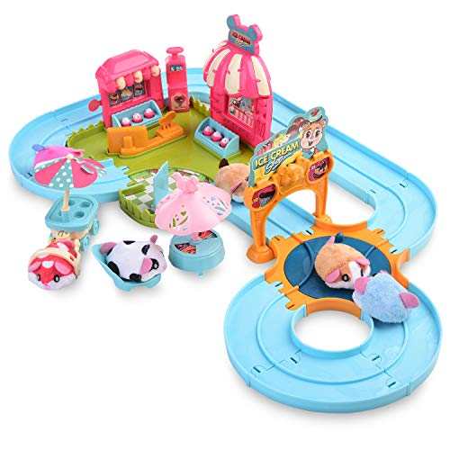 XQW Hamster Track Toys,Pets Set Toy Suitable for Ages 3, 4, 5,6,7, Kids Toy Great Gift Toddlers, Toy for Boys and Girls.(Rat Set)