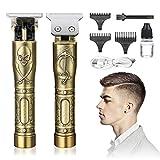 Cortapelos Hombre Profesional-GLAMADOR Recortadora de Barba Profesional para Hombres-Maquina de Afeitar Eléctrica, Maquina Cortar Pelo Inalámbrica USB Recargable, 3 Peines Limitados Profesionales