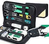 Juego de herramientas de reparación de red 12 en 1, kit profesional de comprobación de cables de red, juego de herramientas de instalación, comprobador de cables LAN