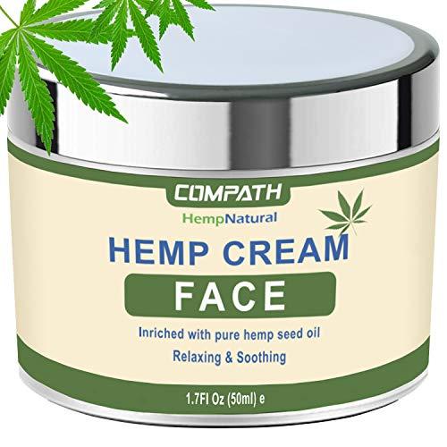 Hemp Cream | Face Cream | Anti-Aging | Anti-Wrinkle & Fine Lines Hyaluronic Acid Vitamin E Relives...