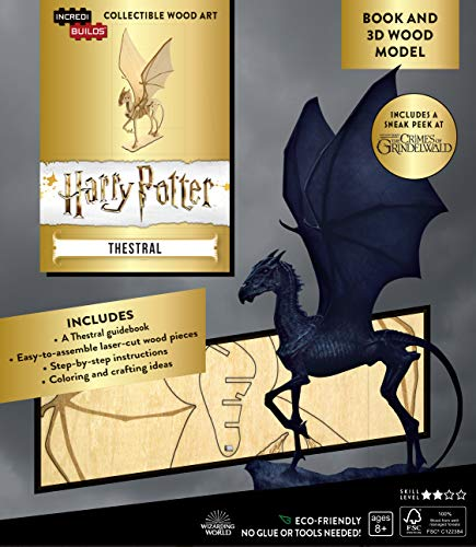 IncrediBuilds: Harry Potter: Thestral Book and 3D Wood Model