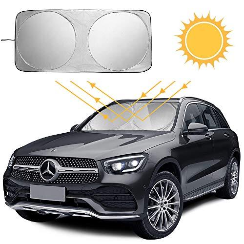 Auto Sonnenschutz Für Frontscheibe, Windschutzscheibe Sonnenblende, Autosonnenschutz Frontscheibe Sonnenabdeckung Uv-Schutz Für Kinder, Babys Faltbare Einfache Lagerung 150X80Cm
