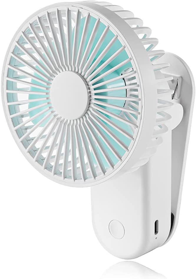USB Desk Fan with Magnetic Clip, 4 Inch Table Fans, Mini Clip on Fan, Portable Cooling Fan with 3 Speed, USB Powered Stroller Fan, 180° Adjustable USB Fan, Personal Quiet Electric Fan for Home Office Camping (White)