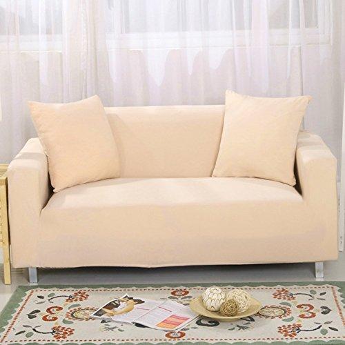 2-sits L-formad beige stol stretch soffa soffskydd två-sits sofföverdrag överdrag