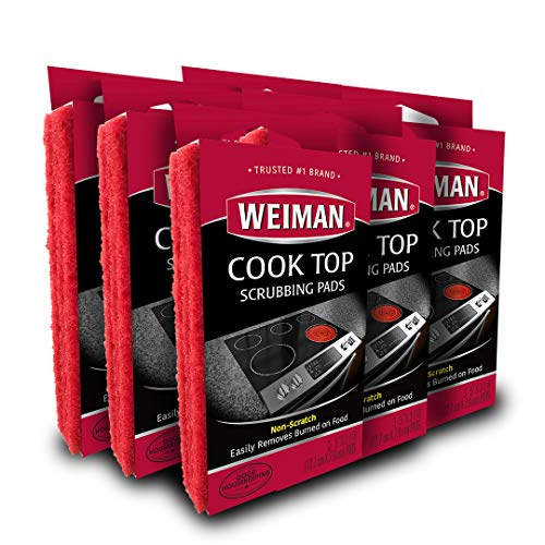 Weiman Cook Top Scrubbing Pads 18 Count 6 Pack Cuts Through The Toughest Stains  Scrubbing Pads Carefully Wipe Away Residue