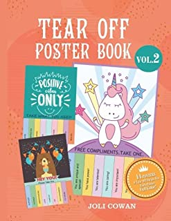 Tear Off Poster Book: pread Positive Vibes Affirmations And Thoughts With Tear-Off Posters: Volume 2 (Tear Off Posters Flyers Book Motivation Positive Words Affirmation Series)