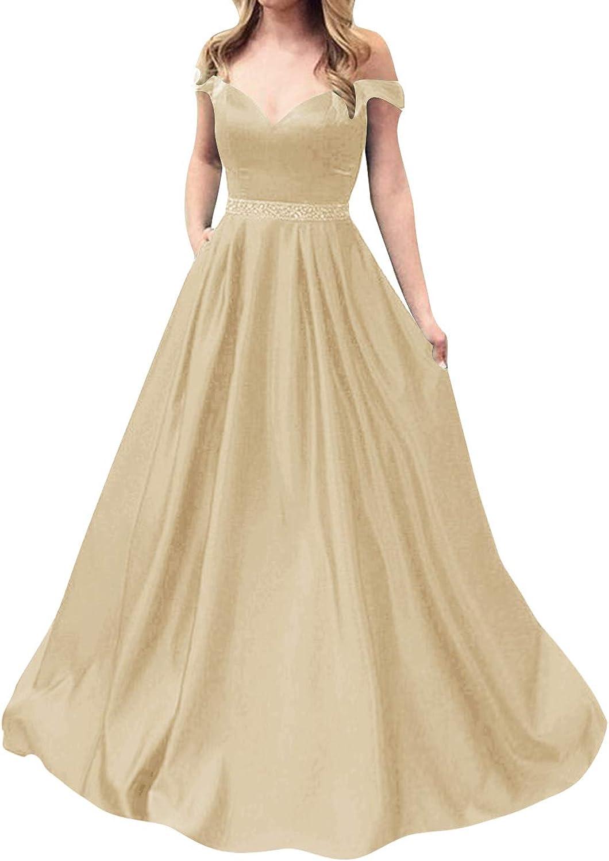 JAEDEN Prom Dresses Long Evening Gowns for Women Formal Off The Shoulder Prom Dress Long 2019 Evening Dress