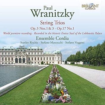 Wranitzky: String Trios, Op. 17 No. 1, Op. 3 Nos. 1 & 3