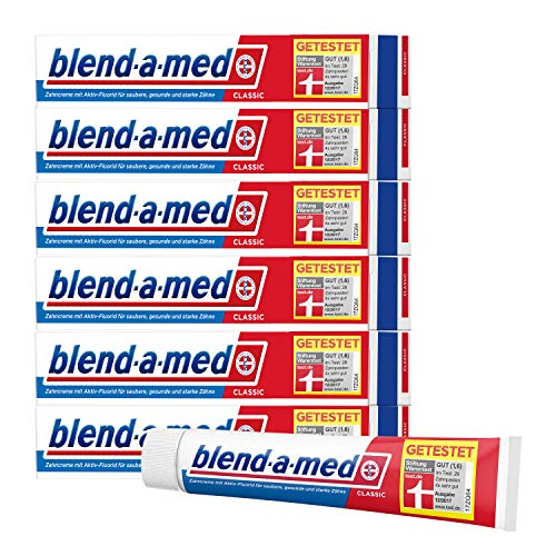 Blend-a-med Classic Zahncreme, 6er Pack(6 x 75 ml)