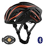 Coros Linx Smart Cycling Helmet, White/Orange/Grey Gloss, Medium