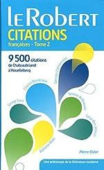 Dictionnaire de citations françaises - Tome 2 by Pierre Oster (2015-05-27) de Pierre Oster