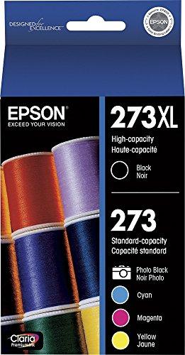 Epson T273X l-BCS Claria Cartucho de Tinta (, 5Unidades), Color Negro