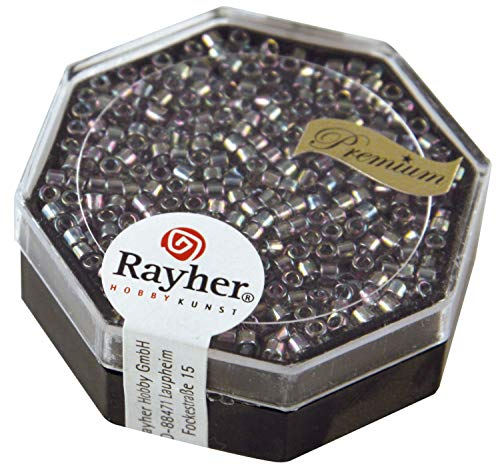 Rayher Miyuki Delica 2 2 mm Rainbow transp. gris argenté