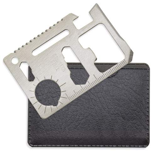 DISOK - Multiherramientas con 11 Funciones. Detalles hombre, caballero, herramientas de bolsillo. Detalle boda, bautizo, comunion, detalle para el hogar. (Verde)