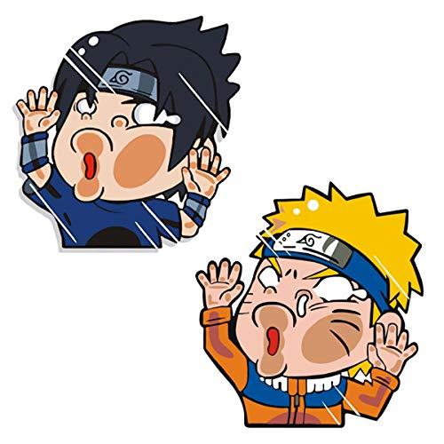 Funtaku - Naruto & Sasuke Funny Hitting Glass Vinyl Decal Sticker for Car/Window/Computer