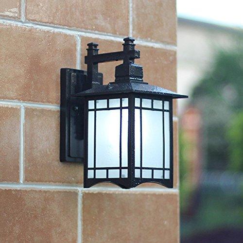 Rétro extérieur imperméable à l'eau en aluminium lampe de mur simple couloir extérieur américain balcon imperméable à l'eau murale ( conception : 2 )
