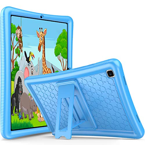 ProCase Kids Case for Samsung Galaxy Tab A7 10.4 Inch 2020 (SM-T500 / T505 / T507), Shockproof Silicone Cover, Light Protective Rubber Case for Children –Blue
