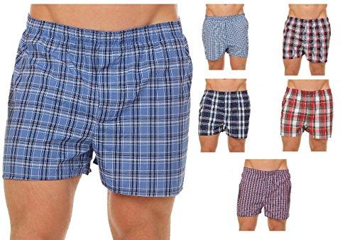 Herren Boxershorts American Style Karodesign Webboxer Shorts im 6er Pack 59542, Größe:XXL, Farbe:Sortiert
