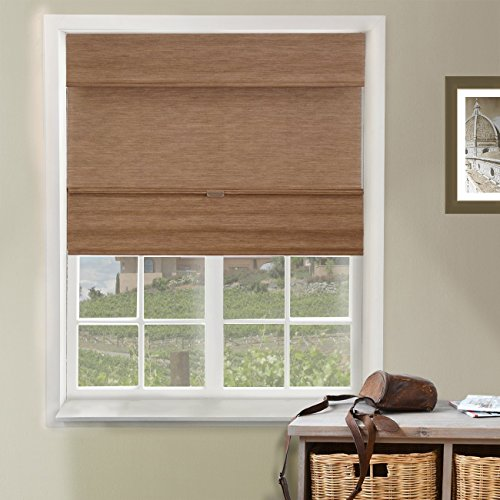 Chicology Cordless Magnetic Roman Shades Privacy Fabric Window Blind,...