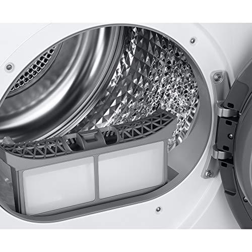 Samsung Elettrodomestici DV90T5240AT/S3 Asciugatrice Ai Control Optimal Dry, Front Load, 9 kg, Bianco, Oblò Nero
