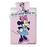 Disney Minnie Mouse 118 - Ropa de cama para cuna (100 x 135 cm)