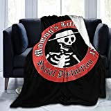 Orayh Social Distortion Blankets, Flannel Blankets, Soft and Comfortable Bedroom Blankets, Sofa Blankets