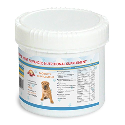 Joint Supplements For Dogs - 180 DAYS For A 10 - 25 kg Dog | Veterinary Formulated Premium Supplement That Relieves Joint Pain & Improves Mobility | Glucosamine Chondroitin MSM |UK Manufactured...