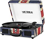 Victrola Vintage Bluetooth Portable Suitcase Record Player with Built-in Speakers, 1SFA...