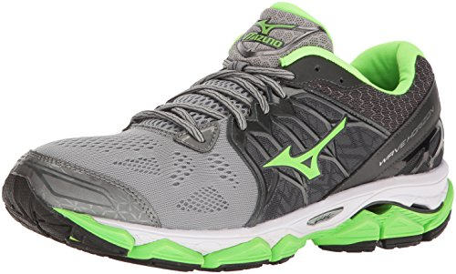 Mizuno Men's Wave Horizon Running Shoe, Dark Slate/Green Flash, 7.5 D US