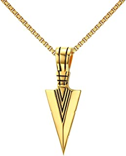 Stainless Steel Cool Vintage Sword Design Pendant Necklace for Men with 20 Inches Chain