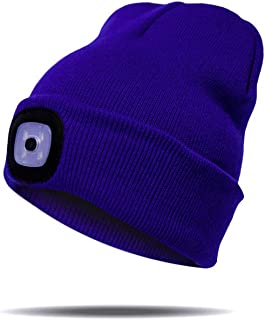 Upgraded LED Lighted Beanie Hat,USB Rechargeable Hands...