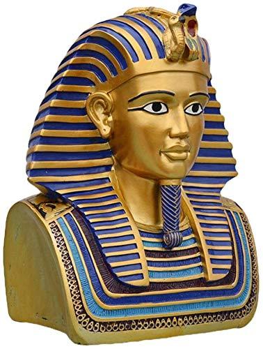 Estatuas de jardín y esculturas al aire libre Busto egipcio Tutankamón ornamento Con Escultura Máscara reproducción del oro resina de la vendimia decorativa estatua del jardín y la decoración del hoga