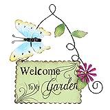 Cabilock Cartelli di Benvenuto del Giardino della Farfalla del Metallo Benvenuti nel Mio G...