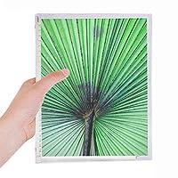 写真の新鮮な葉の画像の性質 硬質プラスチックルーズリーフノートノート